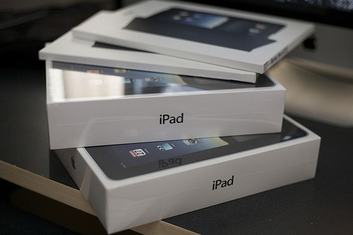 iPads in boxes