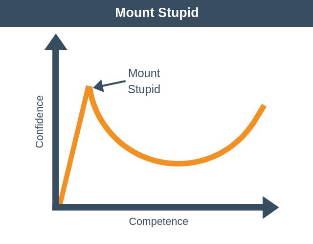 Dunning-Kruger: Mount Stupid
